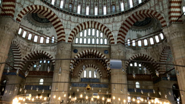 Selimiye Mosque Interior of Selimiye Mosque in Edirne, Turkey istanbul stock videos & royalty-free footage