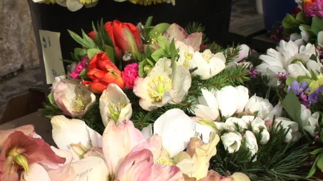 hd: selling bouquets - blomstermarknad bildbanksvideor och videomaterial från bakom kulisserna
