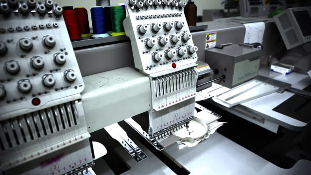 Semi Automated Embroidery Production video