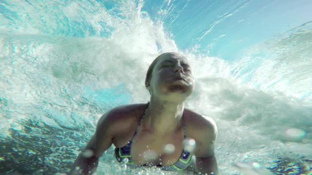 Semi professional surfer girl. video