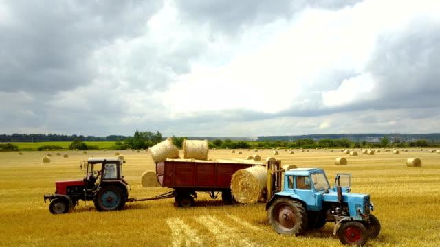 Semi Truck Loading Straw Bales video