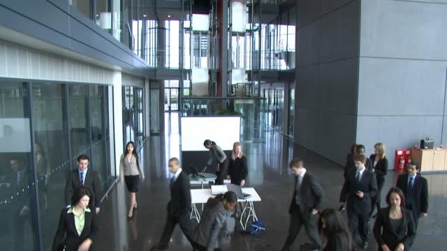 Seminar business presentation Crane HD video