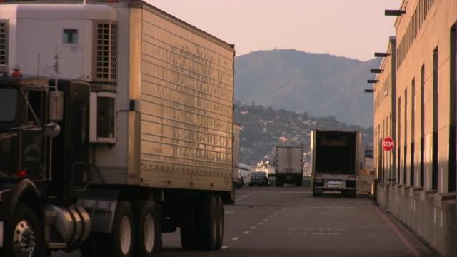 Semi-trailer truck reversing HD video