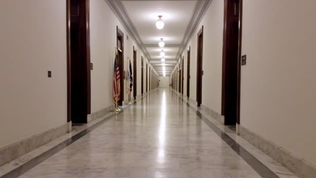 U.S. Senate Russell Office Building Hallway in Washington, DC - 4k/UHD video