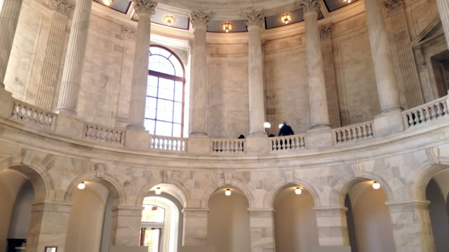 U.S. Senate Russell Office Building Rotunda in Washington, DC - 4k/UHD video