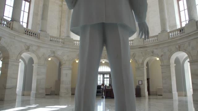 U.S. Senate Russell Office Building Rotunda in Washington, DC - Tilt Up