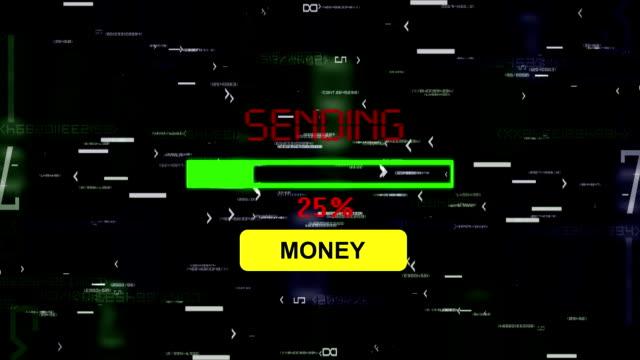 skicka pengar online - skicka datormeddelande bildbanksvideor och videomaterial från bakom kulisserna