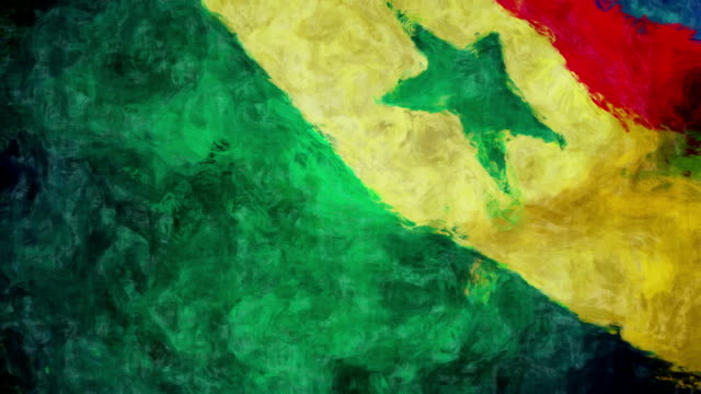 Senegal Art Flag The effect of drawing Senegal flag. senegal stock videos & royalty-free footage