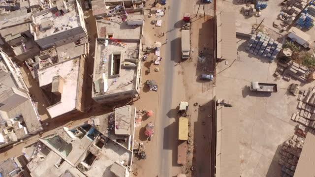 senegal dakar africa aerial - senegal video stock e b–roll