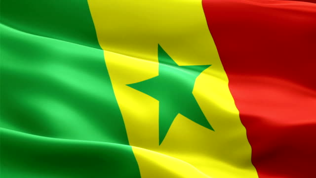 senegal flag motion loop video waving in wind. realistic senegalese flag background. senegal flag looping closeup 1080p full hd 1920x1080 footage. senegal africa country flags footage video for film,news - dakar video stock e b–roll