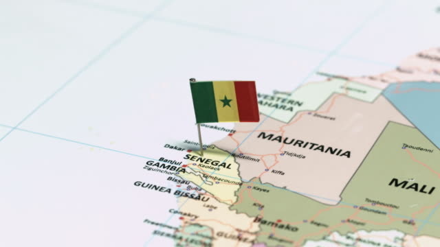 Senegal with National Flag