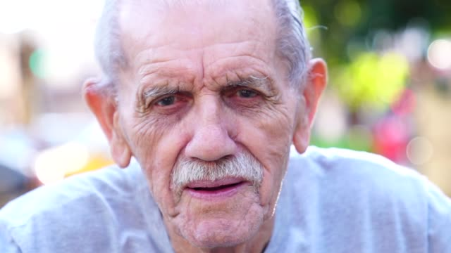 senior adult male portrait; he is 89 years old - spanish and portuguese ethnicity stock videos & royalty-free footage