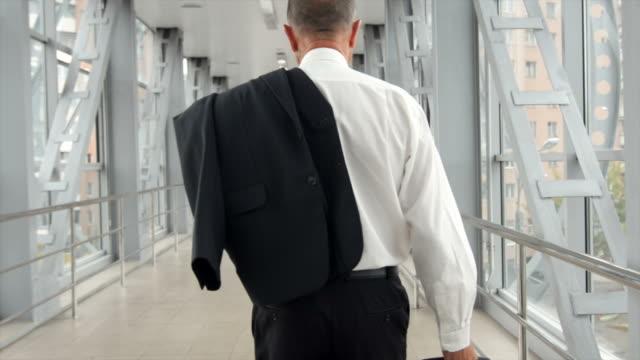 senior businessman going video
