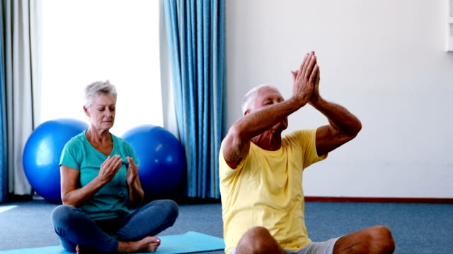 Senior Citizens Performing Yoga Stock Video Download Video Clip Now Istock