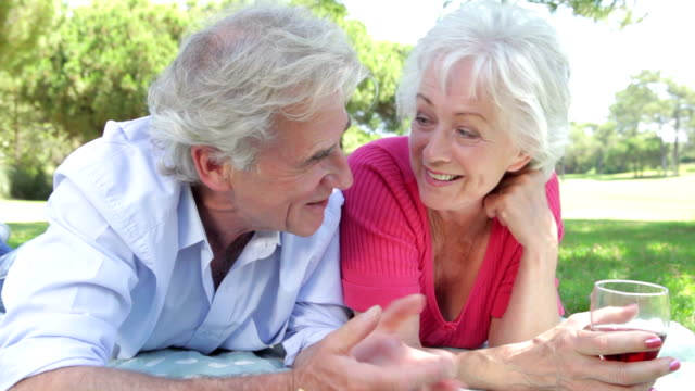 Senior Couple Enjoying Picnic Together video