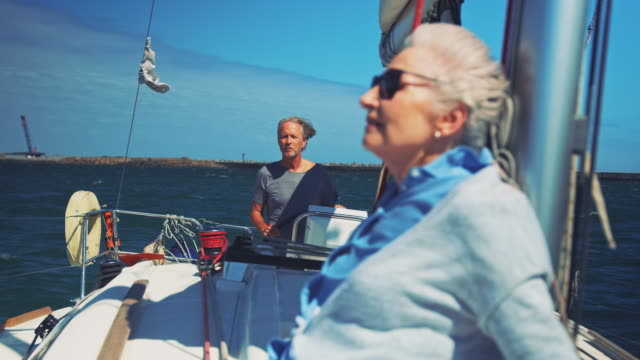 Senior couple enjoying retirement during vacation