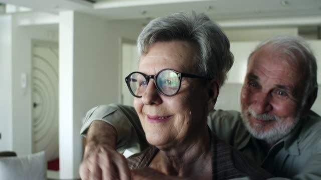 Senior couple enjoying time spent together video