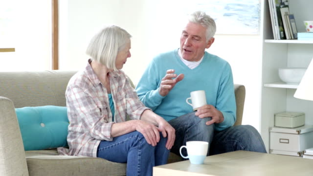 Senior Couple Having a Chat video