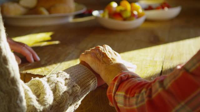 Senior Couple Holding Hands video
