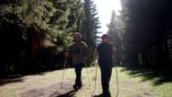 istock Senior couple is hiking 1277756542