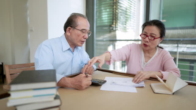 Senior Couple Managing Domestic Finances
