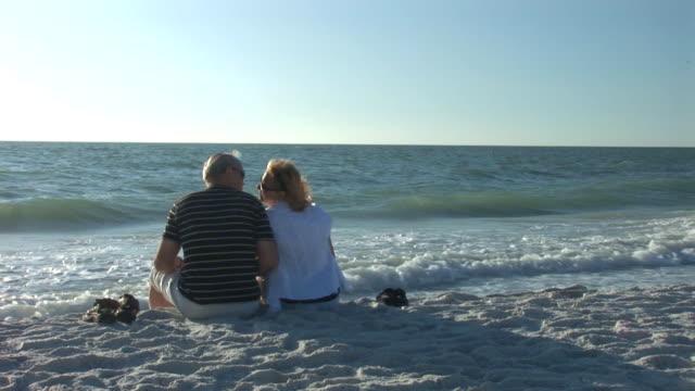 Senior couple on beach video