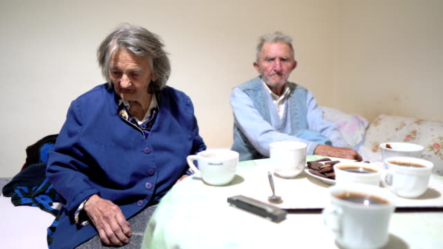 Senior couple with dementia