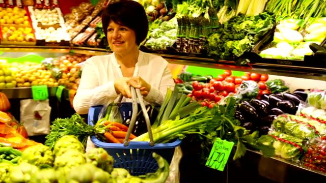 senior customer  in grocery video