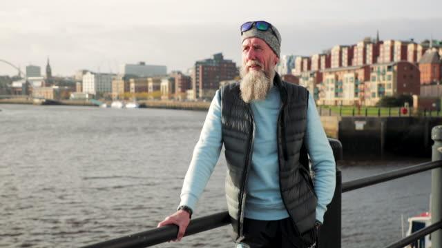 Senior Cyclist Portrait video