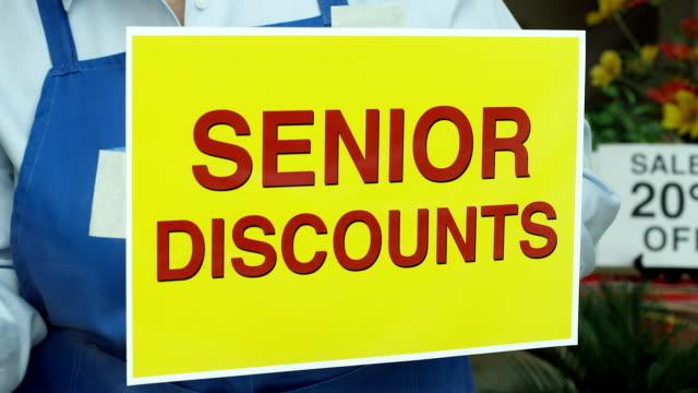 Senior Discount Store Sign video