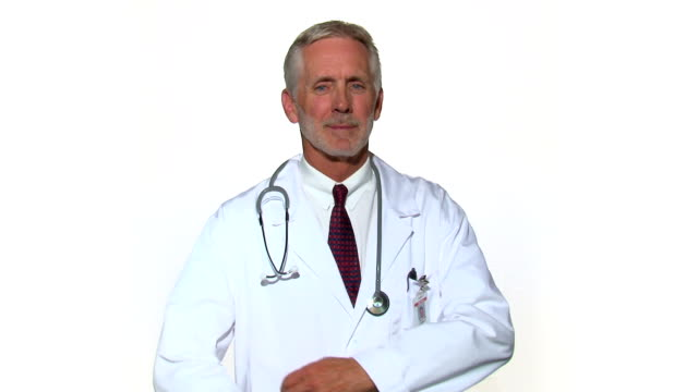 Senior Doctor Folds Arms and Smiles video
