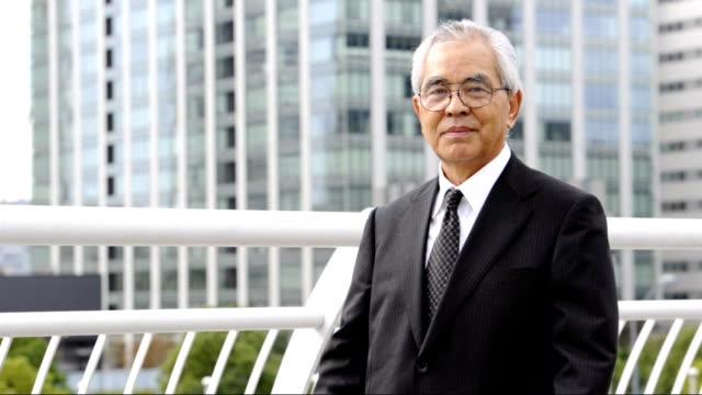senior エグゼクティブ - ビジネスマン 日本人点の映像素材/bロール