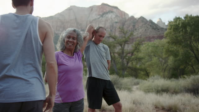 4K UHD: Senior Fitness in a Beautiful Location video