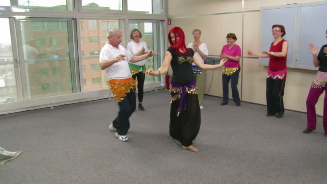 HD: Senior Man Dancing Belly Dance video