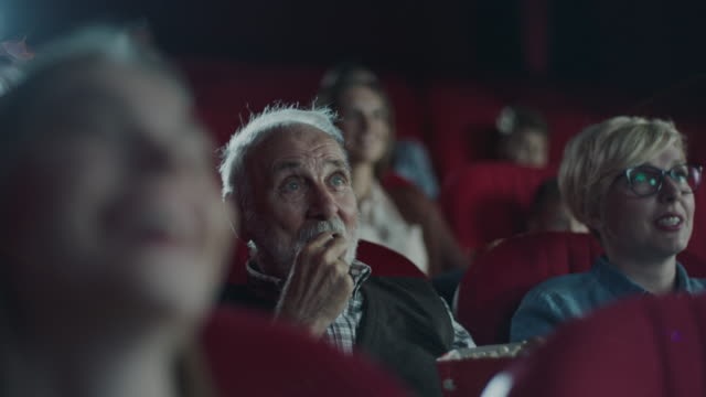 Senior man in cinema video