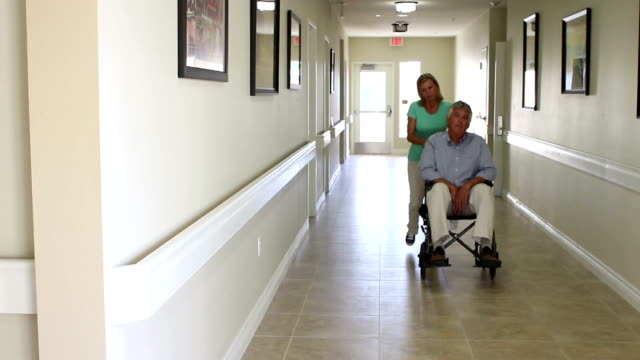 senior man in wheel chair catatonic - senior care stock videos and b-roll footage
