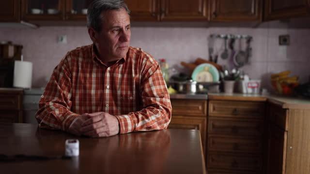Senior man oxygen level in his blood video