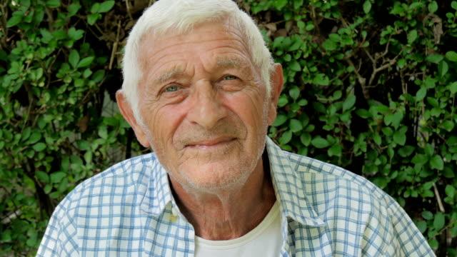 senior man portrait video
