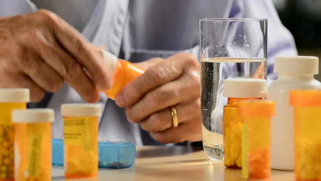 senior man with medication video