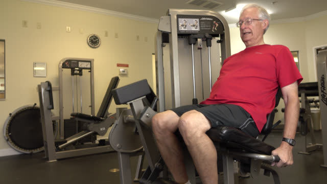 Senior Man Working Out video
