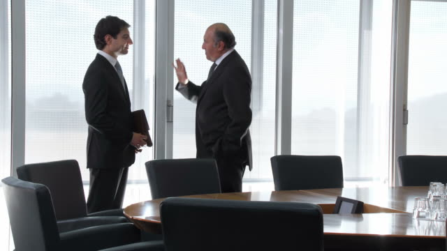 HD: Senior Manager Talking With His New Assistant video