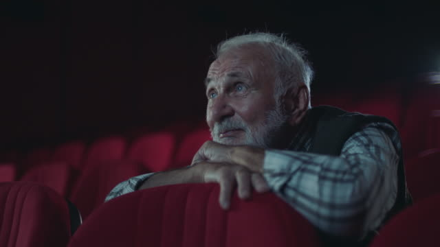 Senior men in cinema video