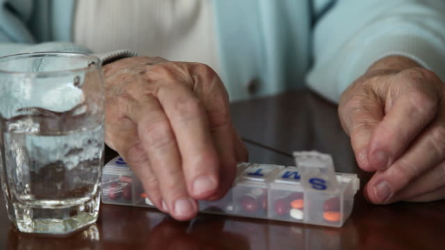 Senior Taking Prescription Medication video