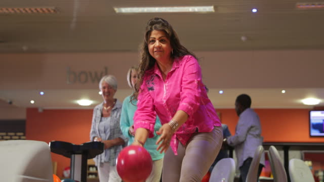 Senior Woman Bowling