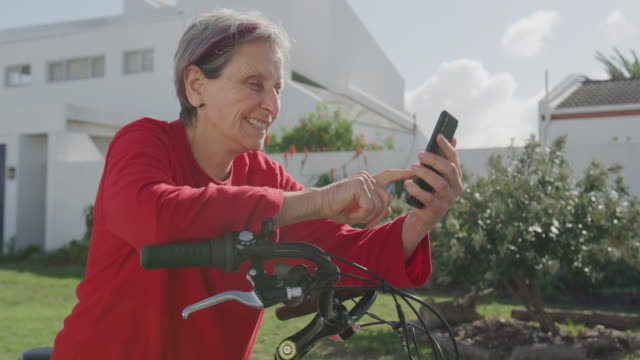 Senior woman enjoying free time outdoors