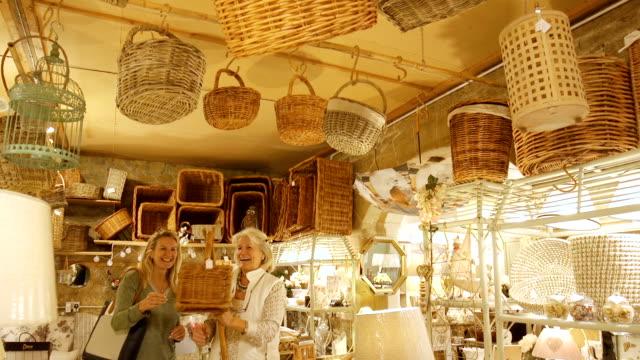 Senior Woman Selling Basket video