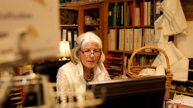 Senior Woman Working video