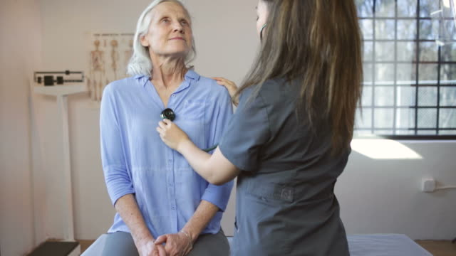 Senior Woman's Doctor's Office Visit video
