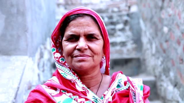 senior women portrait - hindus filmów i materiałów b-roll