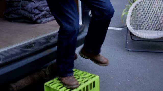 Senior Worker Loading Van video